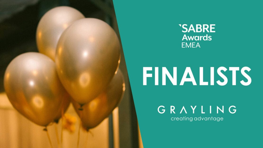 Grayling 4x Finalists for the SABRE Awards EMEA 2021